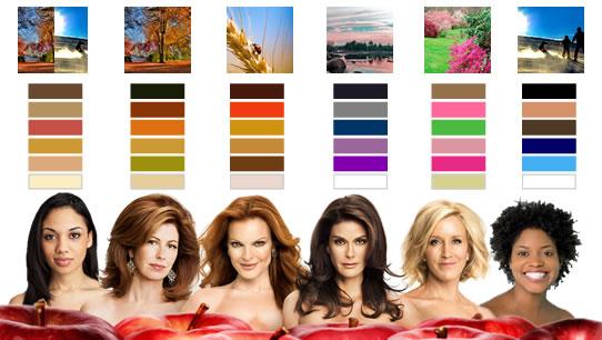 cores que combinam com as cores de pele - iluminadoras