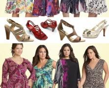 """Grandes Mulheres – vestidos curtos e calçados adequados – tamanhos """"G"""""""