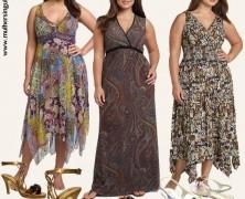 vestidos informais estampados – para grandes mulheres