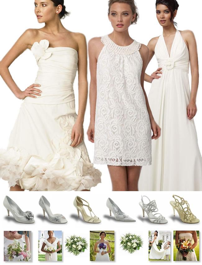 noivas casamento de dia vestidos e seus sapatos  adequados - sugestão Werner