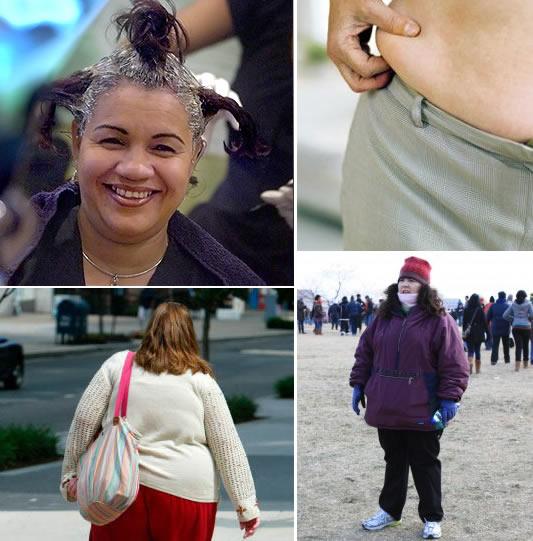 o sobrepeso não é motivo para ficar deselegante e  feia