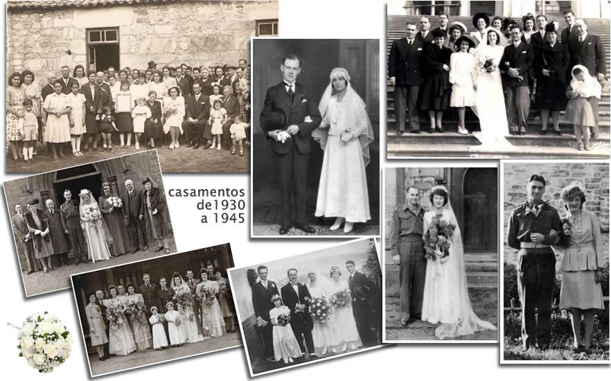 1930 a 1945 casamentos pelo mundo