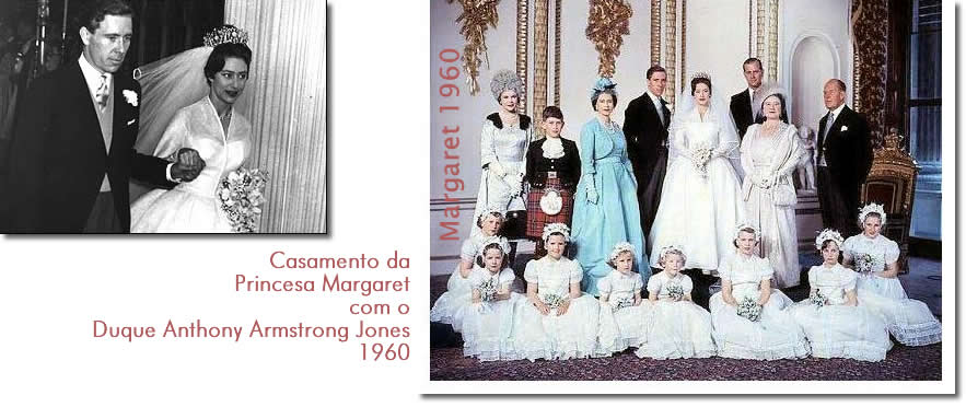 Casamento da Princesa Margaret com o Duque Anthony Armstrong Jones 1960