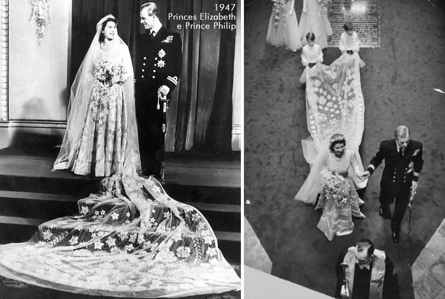Casamento da Rainha da Inglaterra -  Elizabeth e Philip