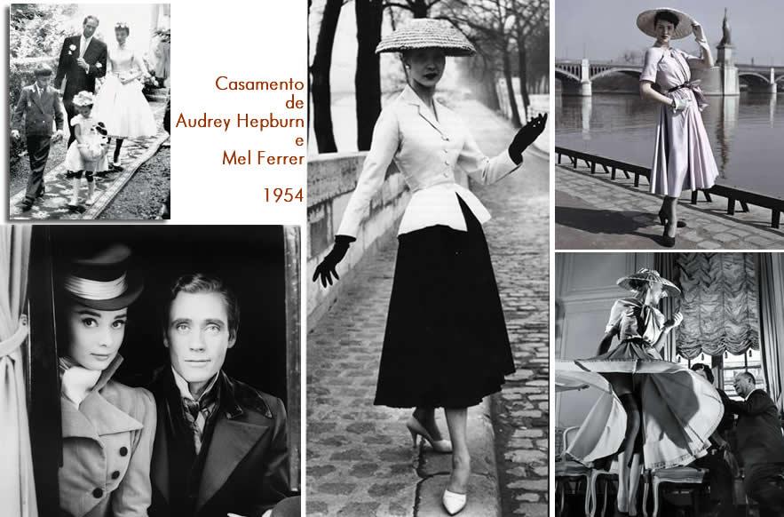 Casamento de 1954 - Audrey Hepburn e Mel Ferrer