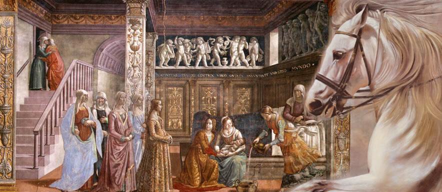 casamento na Idade Média - homem cavalo e mulher o dote