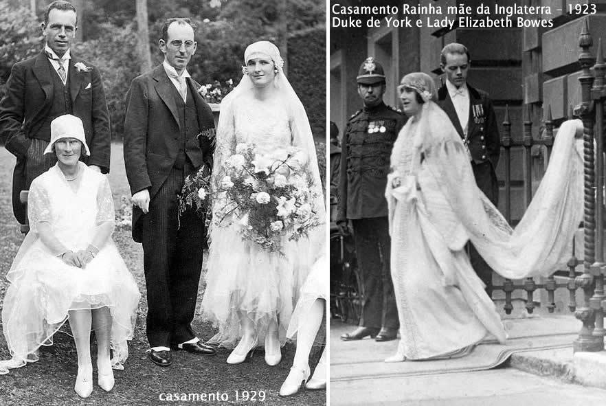 casamentos 1923 da Rainha Mãe e 1929 dois casais