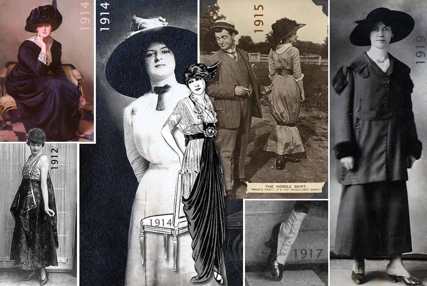 moda e estilo 1910-1919