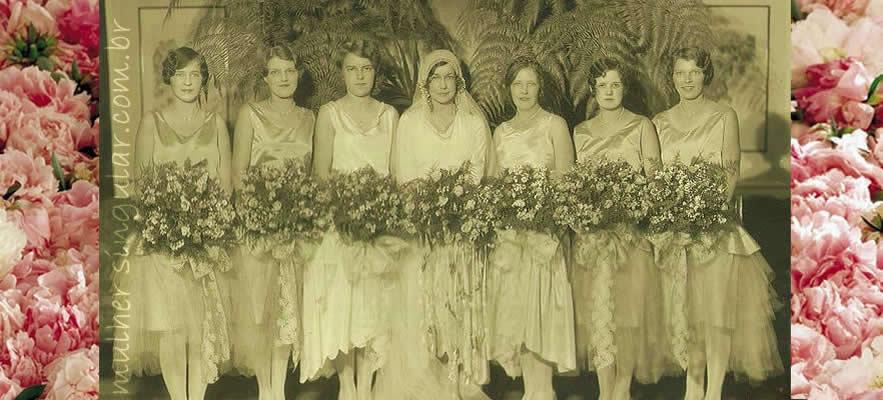 1927 casamento - noiva e damas de honra