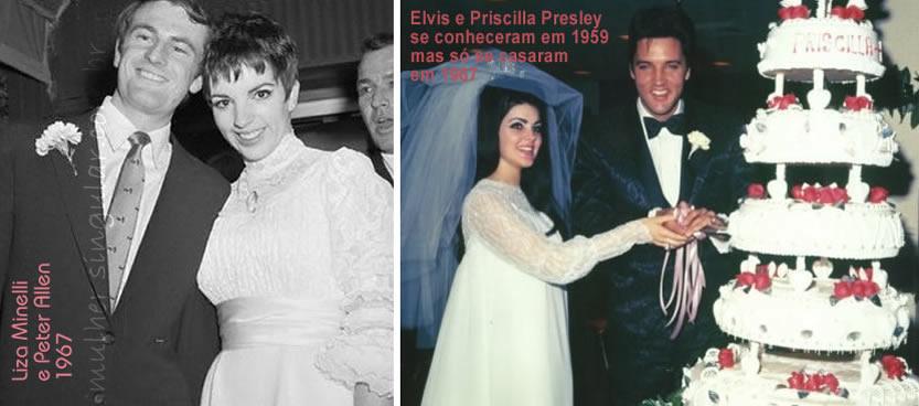 Casamentos Elvis e Priscila - Liza Minelli e Peter  Allen - 1967