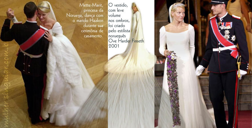 casamento - Mette-Marit, princesa da Noruega com o marido Haakon 2001
