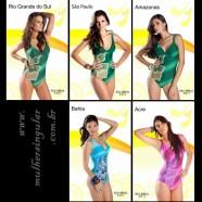 As cinco finalistas do Miss Brasil